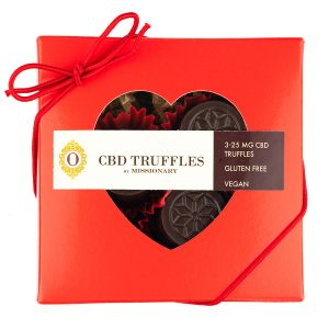 O by Missionary 3 Piece Heart Box of CBD Truffles
