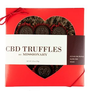 O by Missionary 8 Piece Heart Box of CBD Truffles
