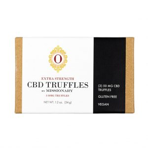 Missionary Chocolates Extra Strength CBD Truffles 3 Piece Box